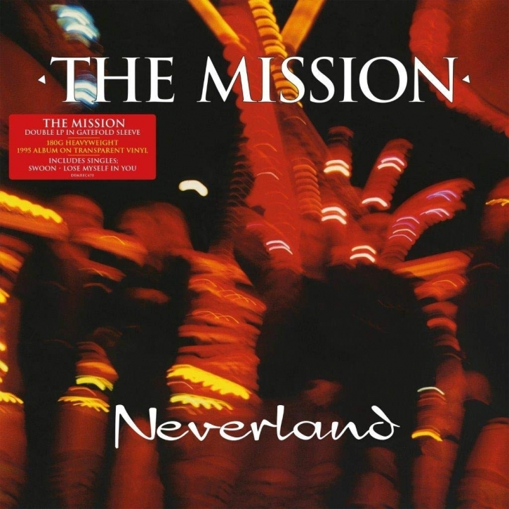 THE MISSION Neverland 2LP TRANSPARENT VINYL 2019