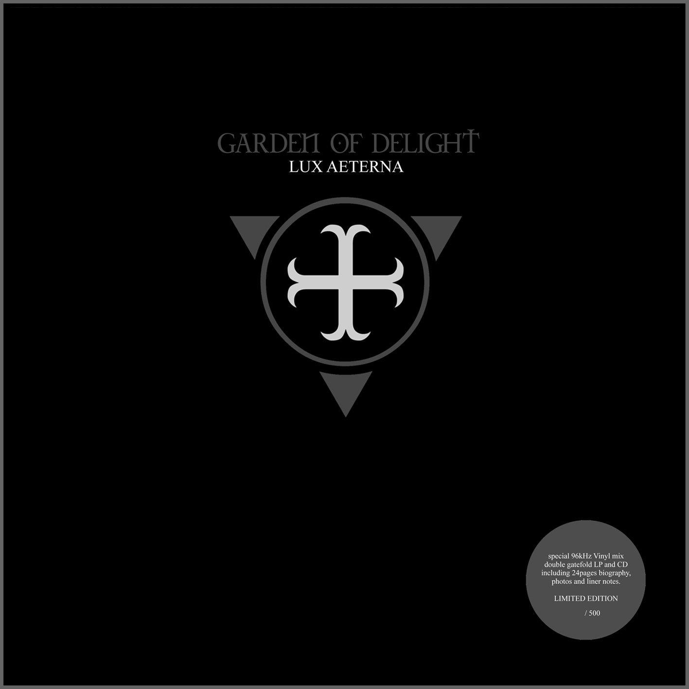 GARDEN OF DELIGHT Lux Aeterna 2LP VINYL+CD 2016 LTD.500