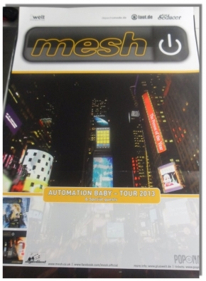 MESH Automation Baby - Tour 2013 POSTER DIN A1