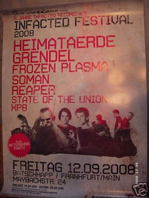 INFACTED FESTIVAL 2008 POSTER A1 Frozen Plasma GRENDEL