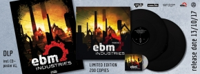 EBM Industries Vol.1 2LP BLACK VINYL+CD 2017 LTD.200 Tyske Ludder LEAETHER STRIP