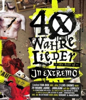 IN EXTREMO 40 wahre Lieder: The Best Of (Limited-Loreley-Fanbox) 2CD+2BLU-RAY