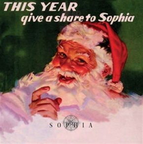 "SOPHIA This Year give a share to SOPHIA 7"" WHITE MARBLED VINYL 2018 LTD.100"