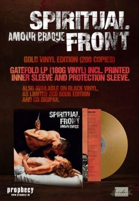 SPIRITUAL FRONT Amour Braque LP GOLD VINYL 2018 LTD.200