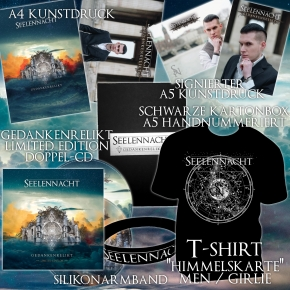 SEELENNACHT Gedankenrelikt FAN-PAKET + GIRLIE-SHIRT 2018 LTD.200