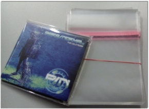 100 CD Schutzhüllen mit Verschluss CD+ Leerbox Digipack