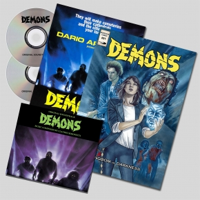 CLAUDIO SIMONETTI Demons [1] Original Soundtrack & Remixed 2CD+COMIC BOOK+POSTER
