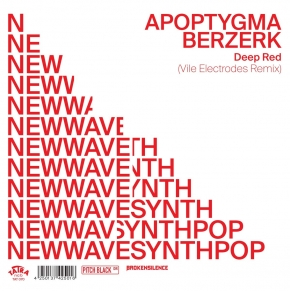 "APOPTYGMA BERZERK vs. VILE ELECTRODES Deep Red 2019 7"" TRANSPARENT VINYL 2019 LTD.400"